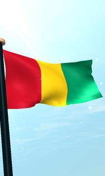 Guinea Flag 3D Free Wallpaper screenshot 3