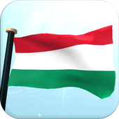 Hungary Flag 3D Free Wallpaper icon