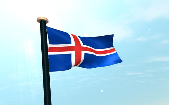 Iceland Flag 3D Free Wallpaper APK Download  Free Personalization