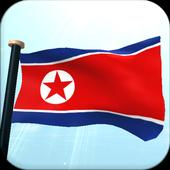 North Korea Flag 3D Free icon