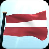 Latvia Flag 3D Free Wallpaper icon