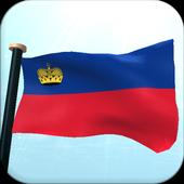 Liechtenstein Flag 3D Free icon