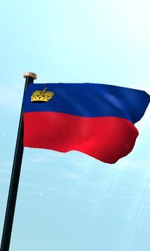 Liechtenstein Flag 3D Free poster