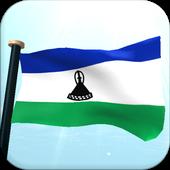 Lesotho Flag 3D Free Wallpaper icon