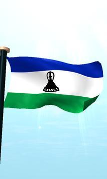 Lesotho Flag 3D Free Wallpaper apk screenshot