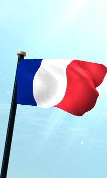 Réunion Flag 3D Free Wallpaper poster
