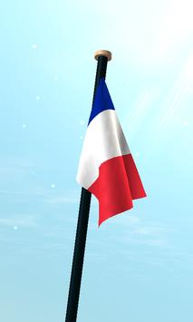 Réunion Flag 3D Free Wallpaper apk screenshot