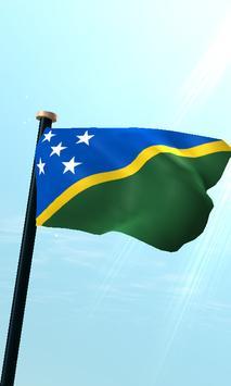 Solomon Islands Flag 3D Free poster