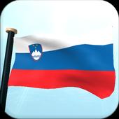 Slovenia Flag 3D Free icon
