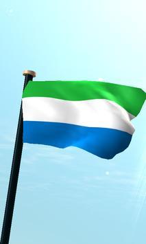 Sierra Leone Flag 3D Free poster