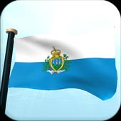 San Marino Flag 3D Free icon