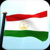 Tajikistan Flag 3D Free icon