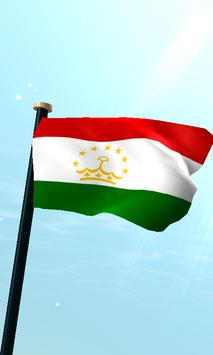 Tajikistan Flag 3D Free poster