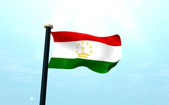 Tajikistan Flag 3D Free apk screenshot