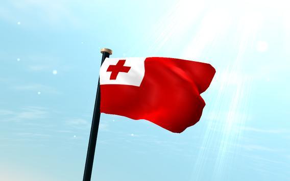 Tonga Flag 3D Free Wallpaper Apk Screenshot