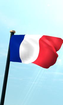 Mayotte Flag 3D Free Wallpaper poster