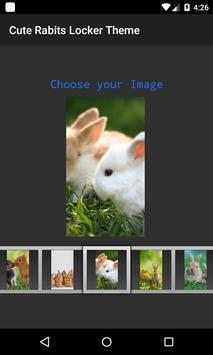 Cute Rabits 3D Locker Theme apk screenshot