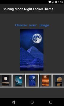Shinning Moon 3D Locker Theme screenshot 4