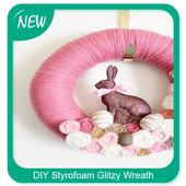 DIY Styrofoam Glitzy Wreath icon