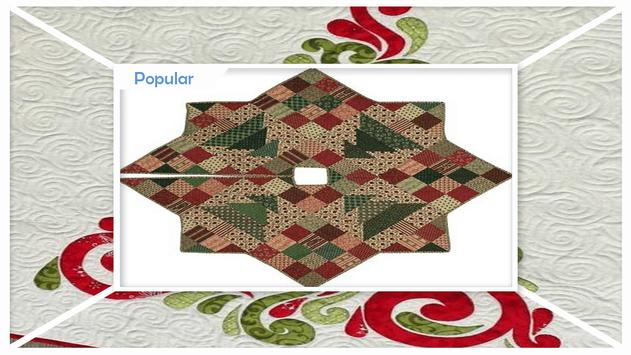 Quilted Christmas Tree Skirt Patterns apk screenshot