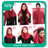 Easy Square Hijab Styles icon