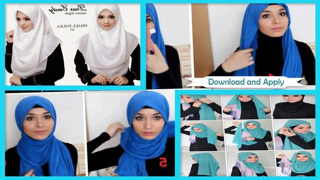 Easy Square Hijab Styles screenshot 2