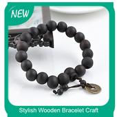 Stylish Wooden Bracelet Craft icon