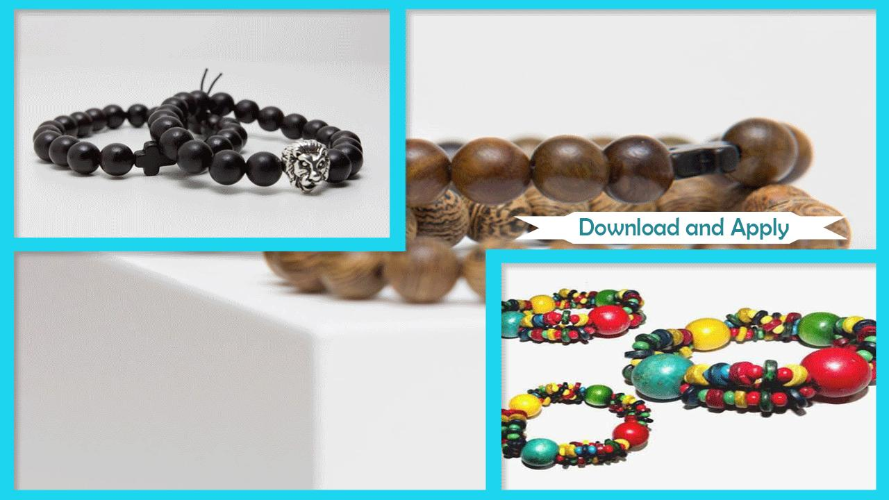 Stylish Wooden Bracelet Craft poster