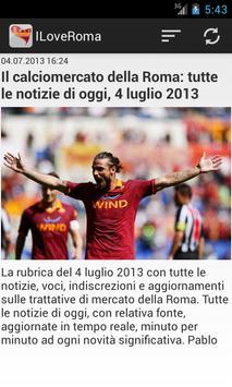 I Love Roma Calcio screenshot 5