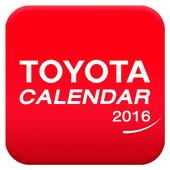 TOYOTA CALENDAR 2016 icon