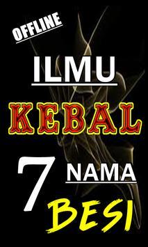 ILMU KEBAL TUJUH NAMA BESI TERLENGKAP poster