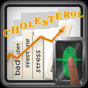 Cholesterol blood test prank poster