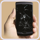 Cracked phone screen Prank icon