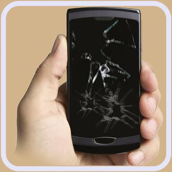 Cracked phone screen Prank poster