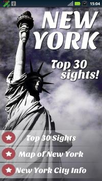 New York Top 30 Sights poster