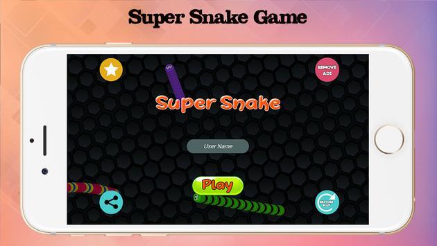 Super slither Snake Game poster