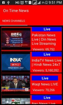 On Time News screenshot 1