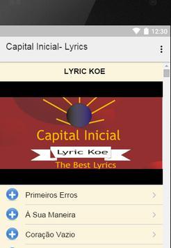 Capital Inicial- Lyrics apk screenshot