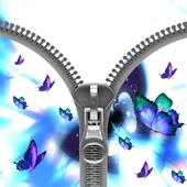 Butterfly plus lock zipper icon
