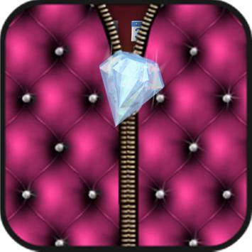 Diamond lock screen zipper poster