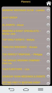 WEDDINGS SA apk screenshot