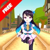 chibi run : anime games icon