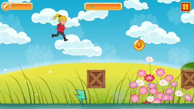 Blonde Girl Run apk screenshot