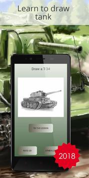 Drawing tanks is the training for children poster