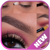 Lovely Eye Make up step by step icon