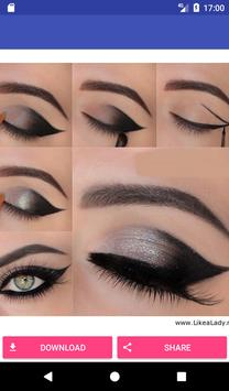 Lovely Eye Make up step by step poster