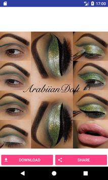 Eye make up step by step poster
