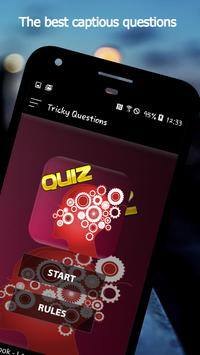 Tricky Questions App: Questions and answers, Quiz poster