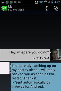 I'm Away (imaway) AutoResponse screenshot 5