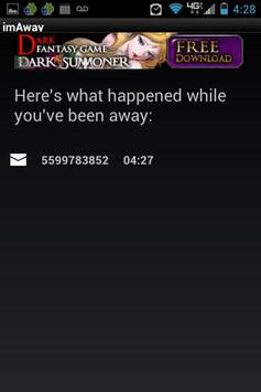 I'm Away (imaway) AutoResponse screenshot 6